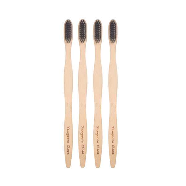 Bamboo Toothbrush - Adult 4 pack