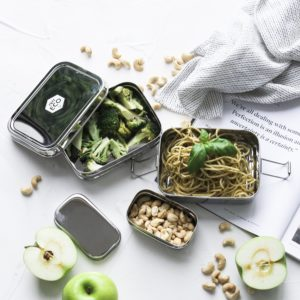 EVER ECO 2 Tier Stackable Bento Box + Mini Snack Container